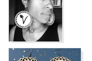 Vegan Insignia Earrings: Brilliant, Beautiful, and Fashionable Resistance by Envision Positive